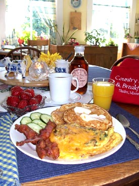 Country Bed and Breakfast Country Breaskfast Menu.